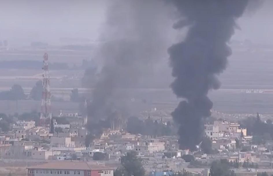 הפצצות טורקיות על העיירה ראס אלעין (צפו בוידאו), כאשר חיילי בשאר + רוסים נכנסים לכובאני, למנוע את כיבושה. ומה זה עולה באש?